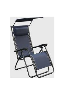Cadeira Outdoor Equilibrium Tapa Sol Azul Marinho Rivatti
