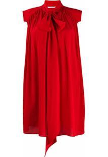 Givenchy Vestido Com Detalhe De Lenço - Vermelho