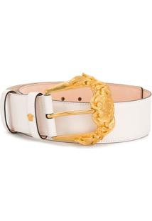 Versace Cinto Com Fivela Barocco - Branco