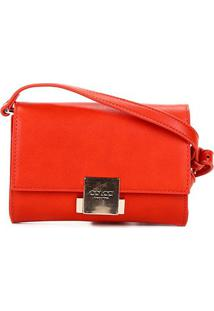 Bolsa Colcci Mini Bag Placa Feminina - Feminino-Marrom