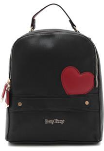 Bolsa Betty Boop Logo Preta
