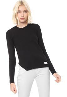 Blusa Calvin Klein Jeans Canelada Preta