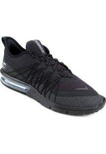 Tênis Nike Air Max Sequent 4 Utility Masculino - Masculino-Preto+Branco