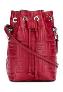 Fendi Bolsa Bucket Mon Tresor Mini - Vermelho