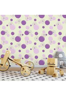 Papel De Parede Bubbles Violet