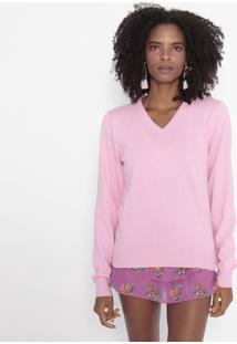 Suéter Em Tricô Com Bordado - Rosacavalera