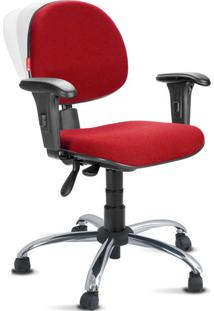 Cadeira Ergonômica Nr17 Crepe Premium Executiva Vermelho