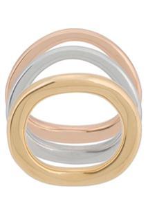 Charlotte Chesnais Conjunto De Anéis Wave - Dourado