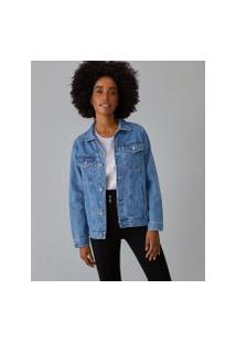 Amaro Feminino Jaqueta Jeans Basic, Azul Claro