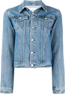 Calvin Klein Jeans Jaqueta Jeans Com Logo - Azul