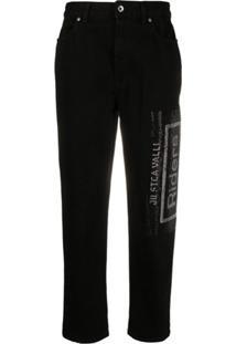 Just Cavalli Calça Jeans Com Aplicação De Cristais - Preto