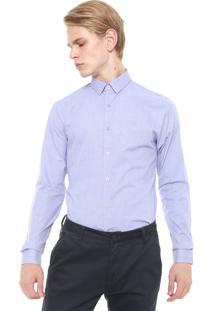 Camisa Calvin Klein Slim Xadrez Azul