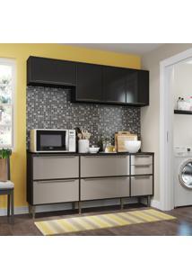Cozinha Compacta Trevalla New Paris 8 Portas 3 Gavetas