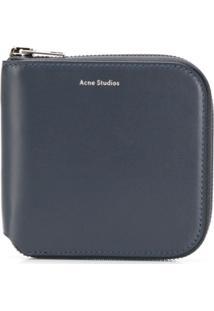 Acne Studios Carteira Csarite S De Couro - Azul