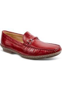 Sapato Masculino Loafer Sandro Moscoloni New Picasso Vermelho