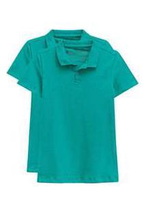 Kit De 2 Camisas Polo Femininas Verde