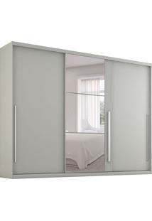 Guarda-Roupa Casal Com Espelho Rennes Ii 3 Pt Branco
