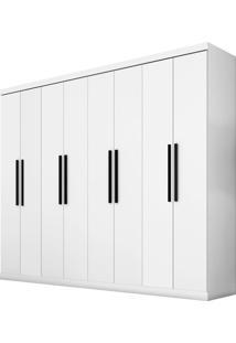 Guarda-Roupa Araplac Mã³Veis 8 Portas Branco - Branco - Dafiti