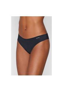 Calcinha Calvin Klein Underwear Tanga Lisa Preta