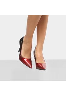 a8c4ab8ff0 ... Scarpin Vizzano Salto Alto Glitter - Feminino-Vermelho