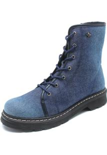 Bota Cravo & Canela Jeans Azul