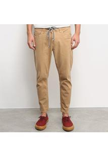 Calça Jeans Colcci John Cropped Masculina - Masculino-Bege