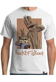 Camiseta Rocket And Groot