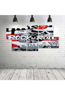 Quadro Decorativo - Rock'N-Roll-(3) - Composto De 5 Quadros