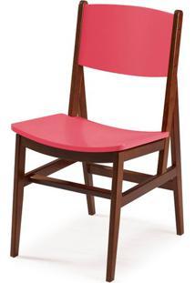 Cadeira Dumon Cor Cacau Com Rosa - 30789 Sun House