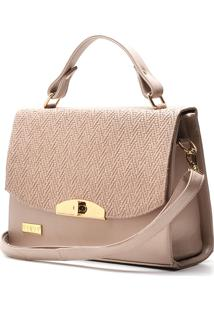 Bolsa Hendy Bag Estruturada Rosê