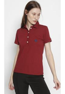 Polo Lisa- Vermelho Escuro & Azul Marinhoclub Polo Collection