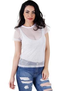 Camiseta Telada Feminina Lara - Branco