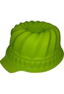 Forma De Silicone Com Furo 29X24X11 Cm Espiral Verde