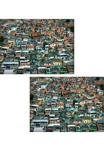 Jogo Americano Colours Creative Photo Decor - Vista Do Morro Do Alemão No Rio De Janeiro, Rj - 2 Peças