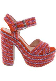 Sandália Texture Meia Pata Multicolor | Schutz