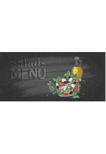 Tapete Transfer Salada- Cinza Escuro & Verde- 90X40Ctapetes Junior