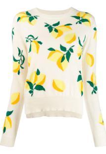 Chinti & Parker Suéter Com Estampa De Limão - Neutro