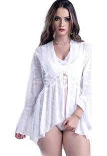 Robe Lámour Curto Yasmin Lingerie Branco