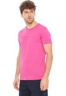 Camiseta Tommy Hilfiger Bordado Pink