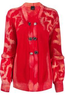 Pinko Knitted Long Sleeve Cardigan - Vermelho