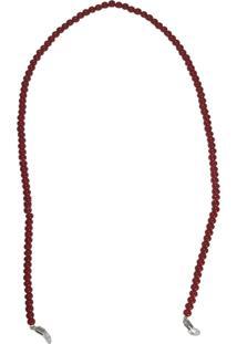 Corrente Bag Dreams Para Óculos Em Missangas Vermelha - Tricae