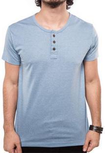 Camiseta Henley Azul Retrô 103287