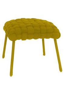 Banqueta De Corda Soft Quadrado Amarelo