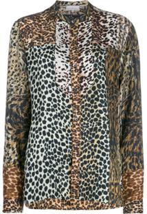 Pierre-Louis Mascia Camisa Animal Print - Marrom