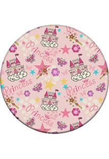 Tapete Love Decor Redondo Wevans Princess Rosa 84Cm