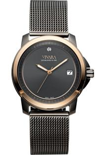 Relógio Vivara Feminino Aço Preto - Ds13685R1A-2