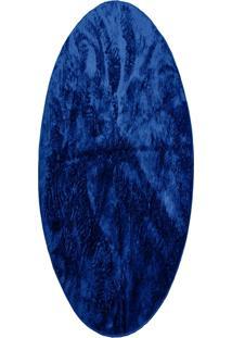 Tapete Felpudo Redondo Pelo Baixo 1,50: Azul