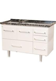 Gabinete De Cozinha New Life 117,4X55Cm Branco Bonatto