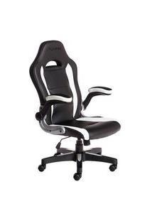 Cadeira Gamer Max Racer Storm Target, Até 110Kg, Preta E Branca - Tgt-03