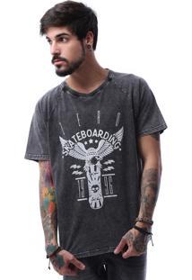 Camiseta Zero Tinturada Eagle Preto